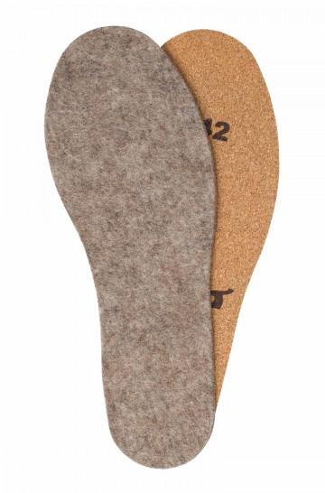 Alpaka FILZ THERMOSOHLEN mit KORK-UNTERSEITE Gr. 36-50 Schuheinlagen Einlege-Sohlen APU KUNTUR