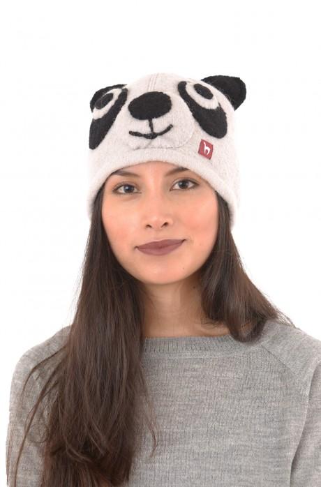 Alpaka Mütze PANDA aus 100% Baby Alpaka