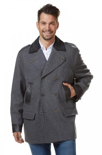 Mantel COLANI Herren Alpaka Wolle Leder gefüttert