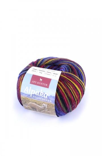 Alpaka Wolle SOCKENGARN | 50g | 60% Wolle (Superwash)