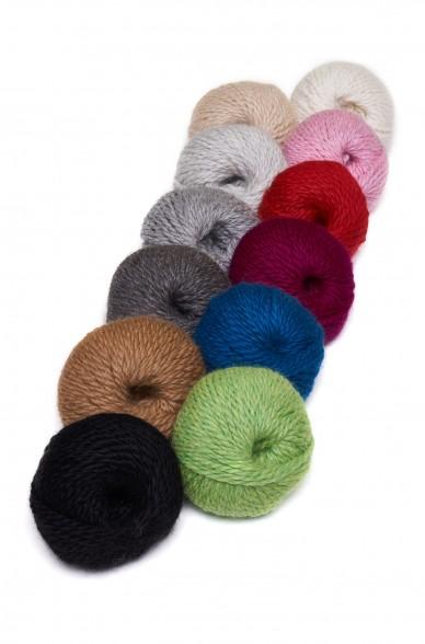 Alpaka Wolle BULKY   50g   5er Pack   100% Baby Alpaka
