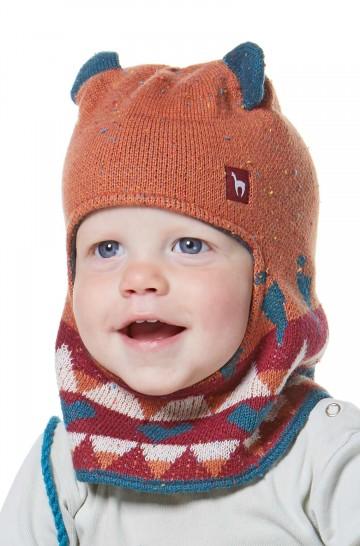 Schlupf-Mütze mit Kapuze ELI für Kinder 6-11Mte,1-4 Jahre