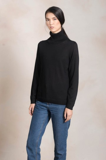 Rollkragen Pullover ANAHI Baby Alpaka Damen Basic von KUNA Essentials Adeline