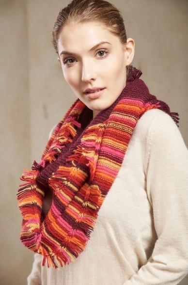 Loop-Schal SOLFA INFINITY Damen Baby Alpaka Wolle