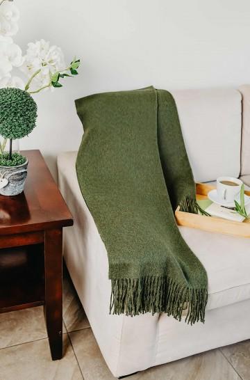 Decke aus Baby Alpaka JET von KUNA