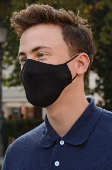 Hochwertige Komfort Pima-Baumwoll-Gesichtsmaske 60 °C waschbar, ökologisch und angenehm zum tragen Grösse M + L wiederverwendbar