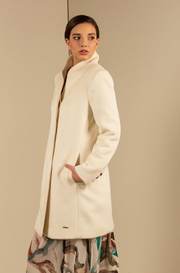 Mantel USTED aus Alpaka und Wolle