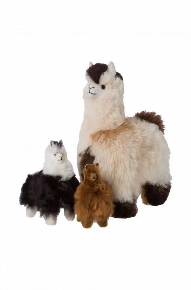 Fell-Alpaka 15cm Naturfell Kuscheltier von APU KUNTUR