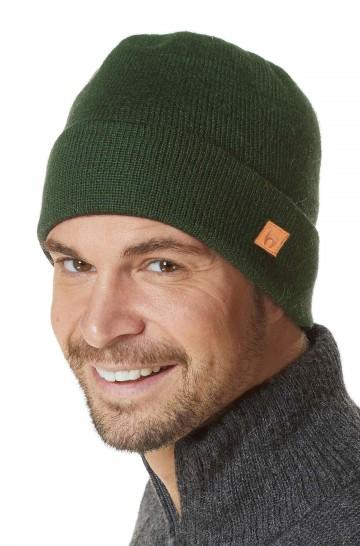 Mütze BARK einfarbig Baby Alpaka doppelt gestrickt