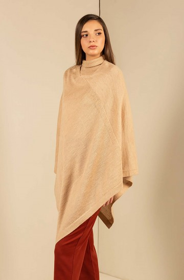 Alpaka Basic Strickponcho ALMENDRA KUNA Essentials