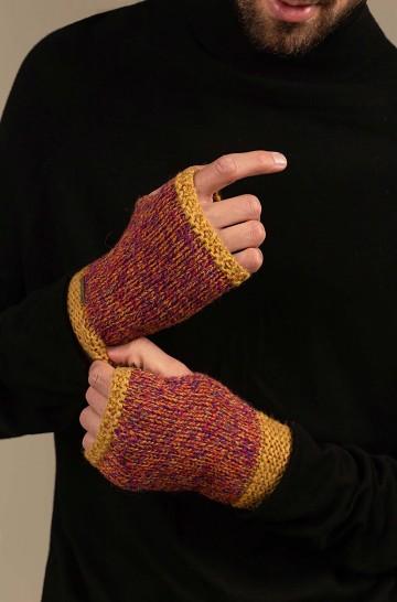 Pulswärmer Handschuhe UNDO aus Baby Alpaka