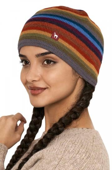 Mütze ARCO IRIS Beanie mit Baumwollfutter Damen Herren