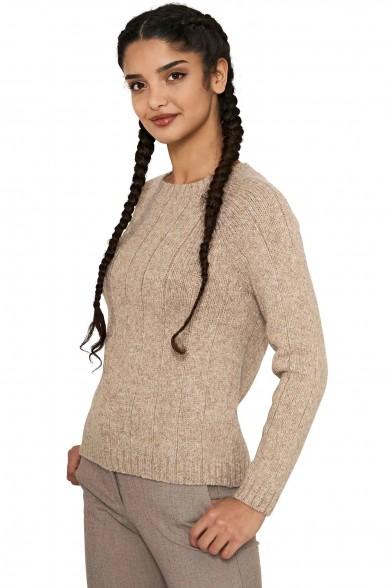 Alpaka Rundhals Pullover MOANA aus 60% Alpaka & 30% Merino Wolle
