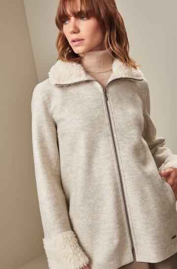 Kurz Mantel UARAZ aus Baby Alpaca und Wolle