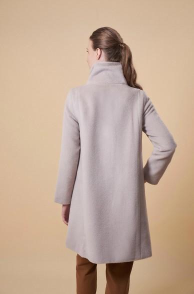 Mantel UDOR aus Alpaka, Seide und Wolle