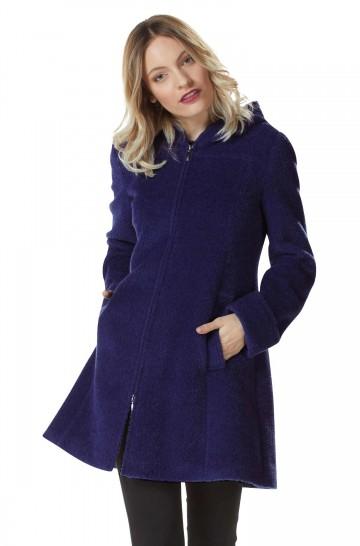 Mantel FLURINA mit Kapuze Damen Alpaka Wolle