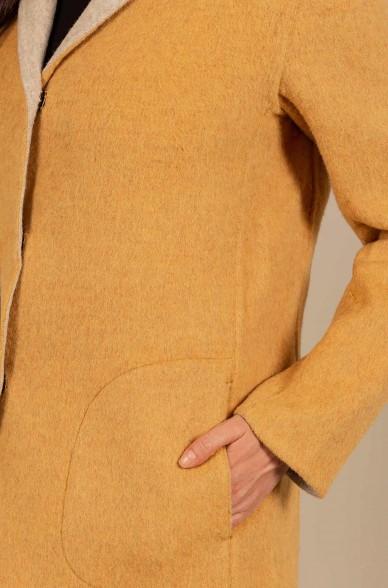 Kurz Mantel URGENTE wendbar aus Baby Alpaka und Wolle