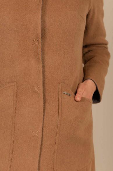 Alpaka Wendebarer Mantel UNO aus Baby Alpaka und Wolle