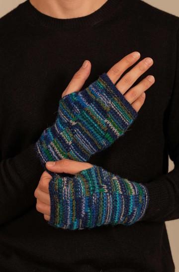 Pulswärmer fingerlose Handschuhe UCRANIA aus Baby Alpaka