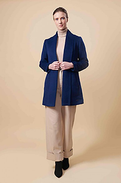 Kurz Mantel SHORT SWING aus Baby Alpaka und Wolle