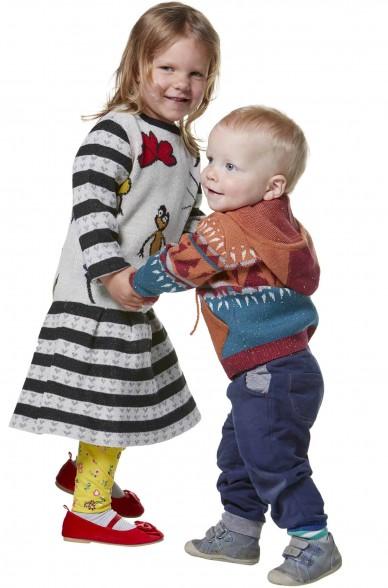 Alpaka Strickjacke ELI für Kinder Baumwolle und Baby Alpaka