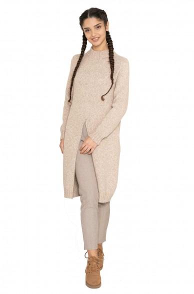 Alpaka Long Pullover MALU aus Alpaka Woll-Mix