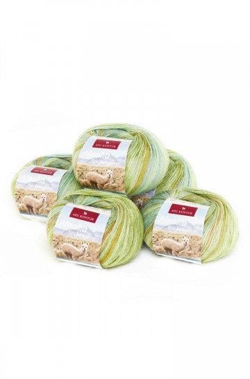 Alpaka Wolle SOCKENGARN   50g   5er Pack   50% Wolle (Superwash)