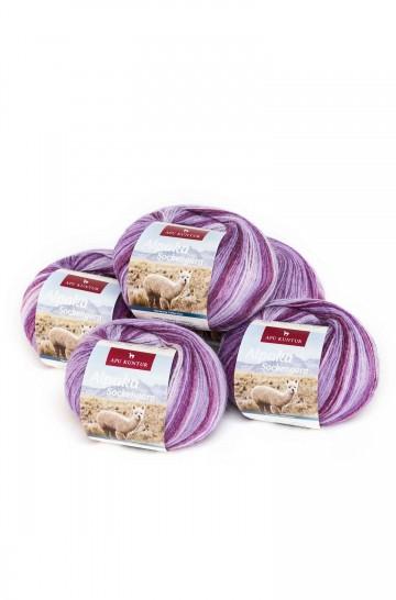 Alpaka Wolle SOCKENGARN | 50g | 5er Pack | 50% Wolle (Superwash)