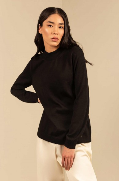 Pullover ANAHI mit Turtleneck Baby Alpaka Damen Basic von KUNA Essentials