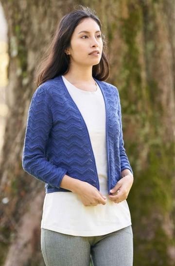 Bolero CLARA mit Ajour-Strick aus Bio Baumwolle für Damen