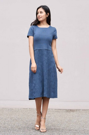Kleid TAMAR mit Jaquard-Strick