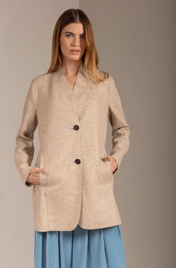 Alpaka Mantel URLA aus Alpaka und Wolle
