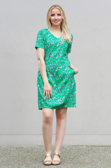 Sommer-Kleid SIENNA mit Blumen-Print aus Bio-Pima-Baumwolle für Damen