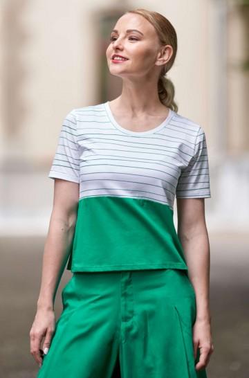 Kurzarm T-Shirt LINEAS aus 100% Bio Pima Bio Baumwolle