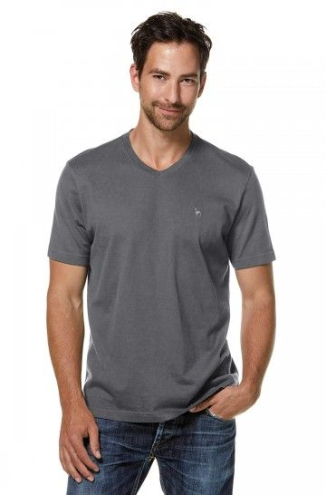 T-Shirt V-NECK aus 90% Bio-Baumwolle & 10% Royal Alpaka
