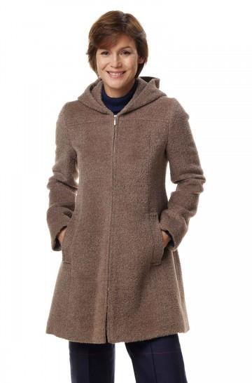 Alpaka Mantel FLURINA aus 40% Alpaka & 55% Wolle