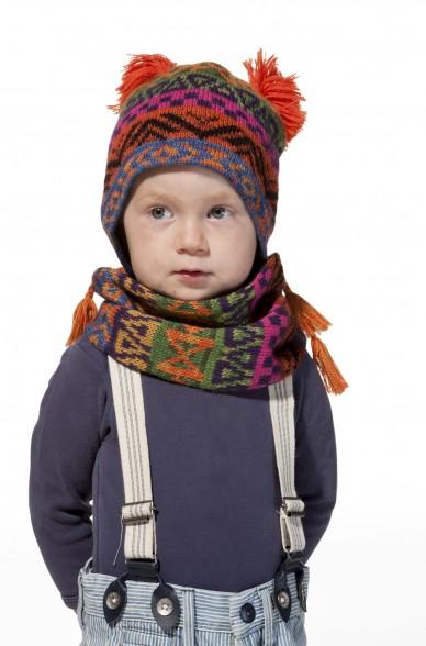 Alpaka Mütze AQUARELL (Kinder 6-12 Monate) aus 100% Baby Alpaka_11481