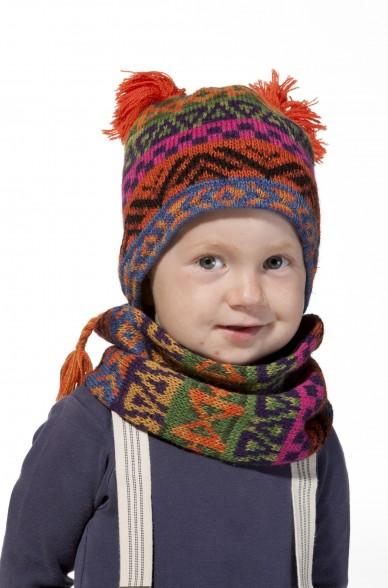 Alpaka Mütze AQUARELL (Kinder 6-12 Monate) aus 100% Baby Alpaka_11482