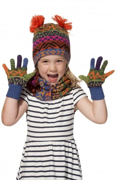 Alpaka Fingerhandschuhe AQUARELLl ( ab 4 Jahre) aus 100% Baby Alpaka_11549