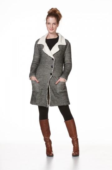 Damen Long Jacke BRAM Alpaka mit Futter_12743
