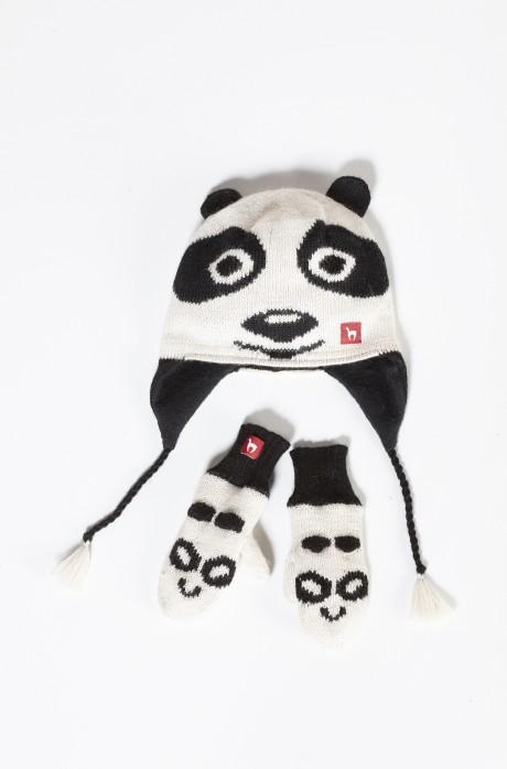 Alpaka Kinderhandschuhe PANDA (1-3 Jahre) aus 100% Baby Alpaka_12864