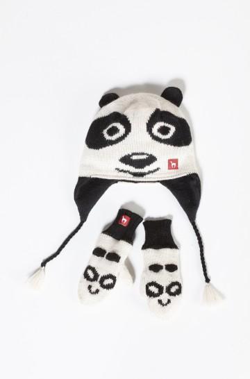 Baby Handschuhe PANDA 6-8 Monate gefüttert Alpaka_12866
