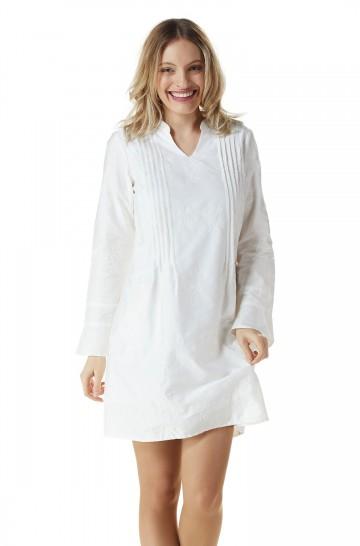 Kleid mit Stickmuster FABIANA Bio Pima-Baumwolle_22671