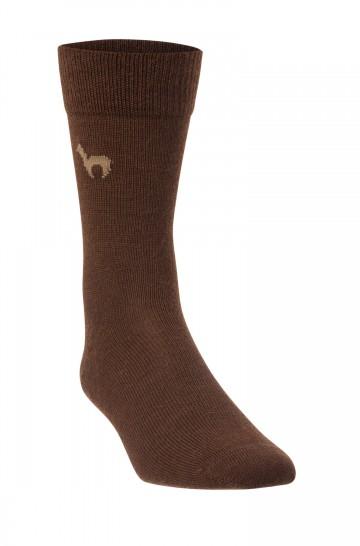 Alpaka BUSINESS SOCKEN elegante Strick-Socke mit APU KUNTUR Logo für Herren und Damen_28476