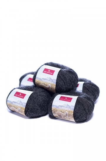 5er-Pack ALPAKA SOCKENGARN 5x50g 200m Nadel 2,5 Socken-Strumpf-Wolle mehrfarbig handgefärbt Nm 4/16 APU KUNTUR_31317