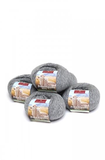 Alpaka Wolle BULKY   50g   5er Pack   100% Baby Alpaka_31364