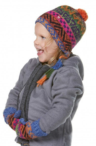 Alpaka Mütze AQUARELL (Kinder 1-4 Jahre) aus 100% Baby Alpaka_32540