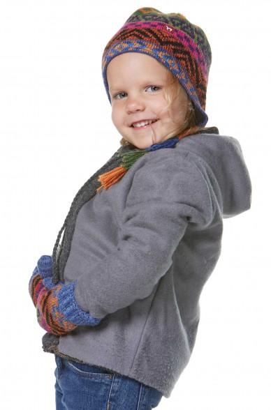 Alpaka Mütze AQUARELL (Kinder 1-4 Jahre) aus 100% Baby Alpaka_32541