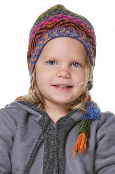 Alpaka Mütze AQUARELL (Kinder 5-9 Jahre) aus 100% Baby Alpaka_32543