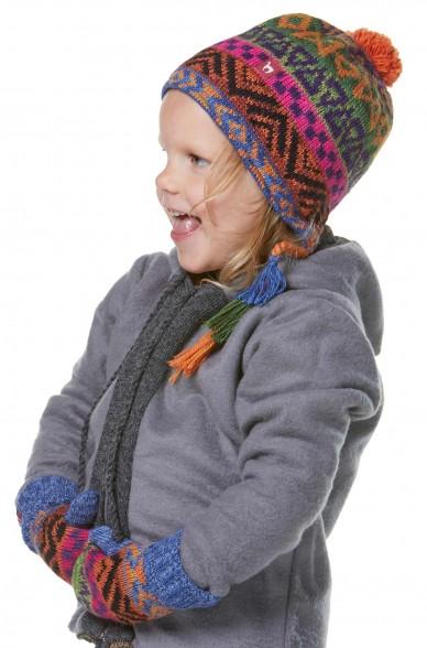 Alpaka Mütze AQUARELL (Kinder 5-9 Jahre) aus 100% Baby Alpaka_32544